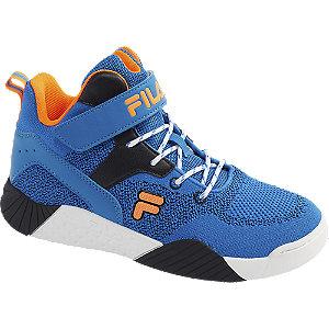 Levně Modré kotníkové tenisky na suchý zip Fila