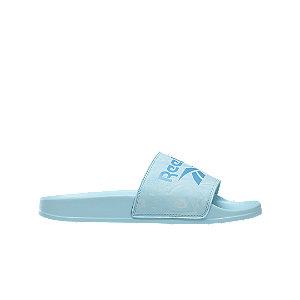 Levně Modré pantofle Reebok
