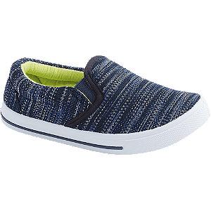 Levně Modré přezůvky Bobbi-Shoes