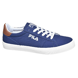 Levně Modré plátěné tenisky Fila