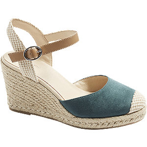 Levně Modré sandály na klínku Graceland