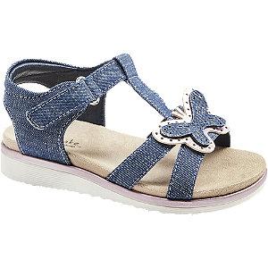Levně Modré sandály na suchý zip Cupcake Couture