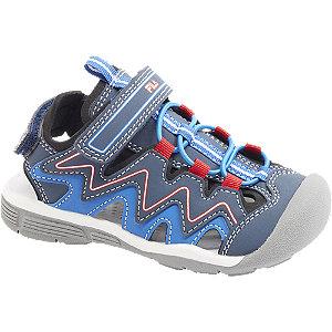 Levně Modré sandály na suchý zip Fila