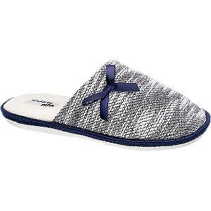 Levně Modro-bílé papuče Casa mia