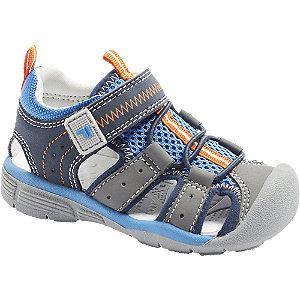 Levně Modro-šedé dětské sandály Fila na suchý zip