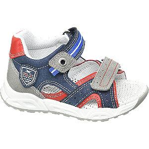Levně Modro-šedé dětské sandály na suchý zip Bobbi Shoes