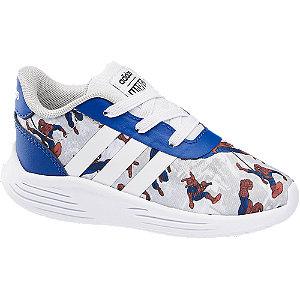 Levně Modro-šedé dětské slip-on tenisky Adidas Lite Racer 2.0 s motivem Spider-Man