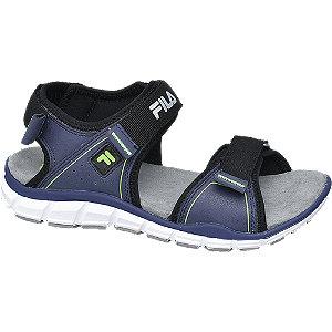 Levně Modro-černé sandály na suchý zip Fila