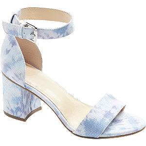 Levně Modro-fialové sandály na podpatku Graceland