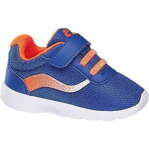 Levně Modro-oranžové dětské tenisky na suchý zip Bobbi-Shoes