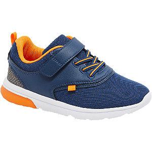 Levně Modro-oranžové tenisky na suchý zip Victory