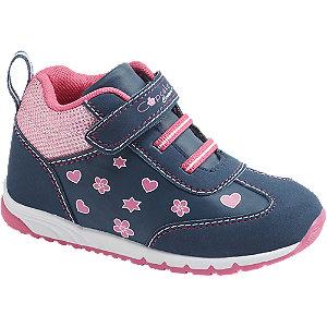 Levně Modro-růžové dětské tenisky na suchý zip Cupcake Couture