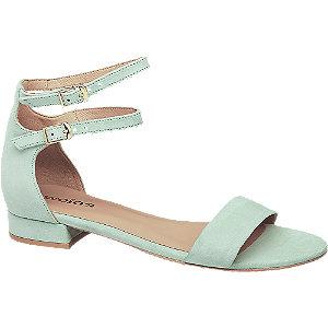 Levně Mátové kožené sandály Wojas