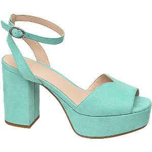 Levně Mátové sandály na podpatku Rita Ora