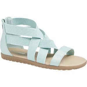 Levně Mátově zelené sandály Graceland