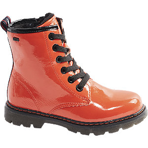 Levně Oranžová šněrovací obuv se zipem Tom Tailor s TEX membránou