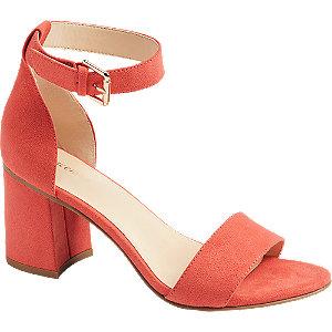 Levně Oranžové sandály na podpatku Graceland
