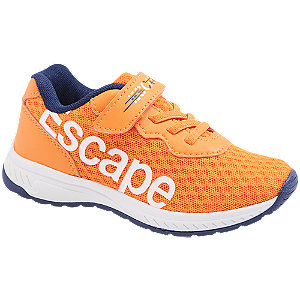 Levně Oranžové tenisky Bobbi Shoes na suchý zip