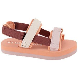 Levně Oranžovo-růžové sandály na suchý zip Vero Moda