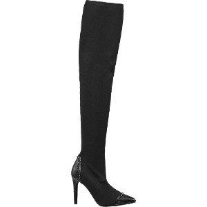 Damen Graceland Overknee schwarz