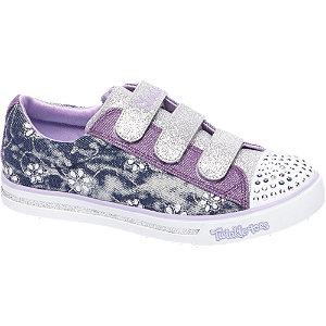 Paarse sneaker glitters&led Skechers maat 33
