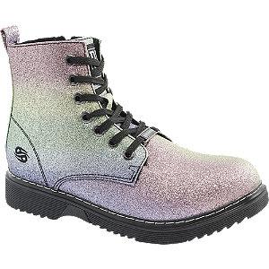 Levně Pastelově metalická dívčí šněrovací obuv Dockers