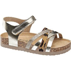 Levně Platinové sandály na suchý zip Cupcake Couture se zvířecím vzorem