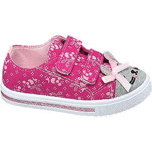 Levně Růžové dětské bačkůrky na suchý zip Cupcake Couture