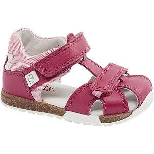 Levně Růžové dětské kožené sandály Elefanten