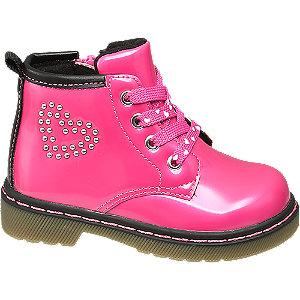 Levně Růžová dětská šněrovací obuv se zipem Cupcake Couture
