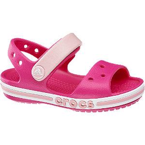 Levně Růžové dětské sandály Crocs