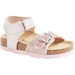 Levně Růžové dětské sandály na suchý zip Cupcake Couture