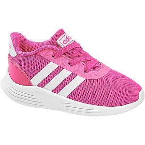 Levně Růžové dětské slip-on tenisky Adidas Lite Racer 2.0 s elastickými tkaničkami