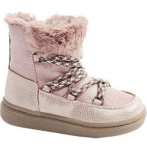 Levně Růžová dětská zimní obuv se zipem Cupcake Couture