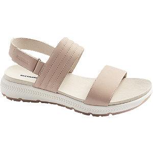 Levně Růžové kožené komfortní sandály Romika