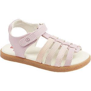 Levně Růžové kožené sandály Elefanten