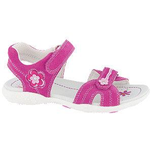 Levně Růžové kožené sandály Graceland na suchý zip