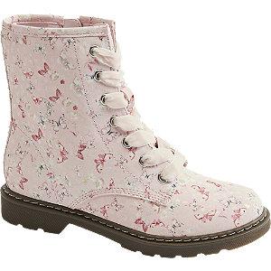 Levně Růžová kotníková obuv se zipem Graceland