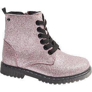 Levně Růžová šněrovací obuv se zipem Tom Tailor s TEX membránou