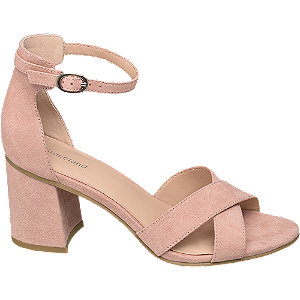 Levně Růžové sandály Graceland na blokovém podpatku