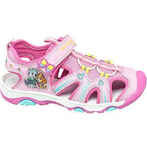 Levně Růžové sandály Tlapková Patrola na suchý zip