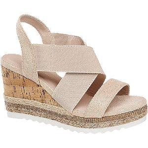 Levně Růžové sandály na klínku Claudia Ghizzani