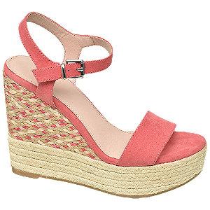 Levně Růžové sandály na klínku Graceland