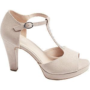 Levně Růžové sandály na podpatku Graceland