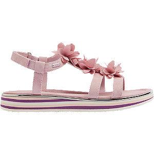 Levně Růžové sandály na suchý zip Esprit