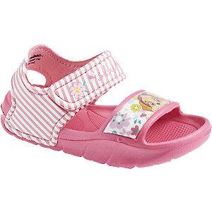 Levně Růžové sandály na suchý zip Tlapková patrola