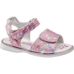 E-shop Růžové sandály na suchý zip Tom Tailor