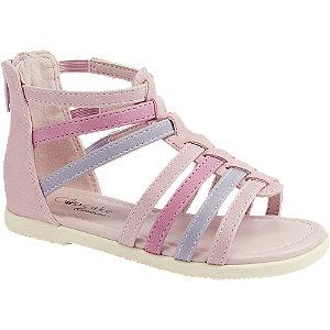 Levně Růžové sandály na zip Cupcake Couture