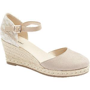 Levně Růžovo-béžové sandály na klínku Graceland