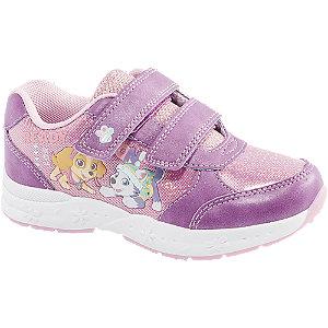 Levně Růžovo-fialové tenisky na suchý zip Tlapková patrola